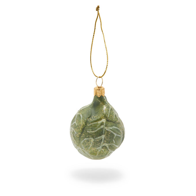 Brussels Sprout Glass Ornament