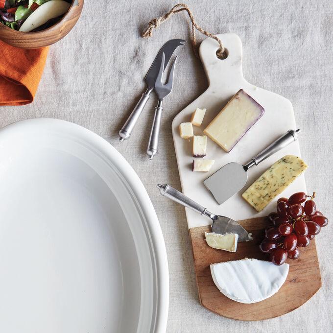 Marble and Acacia Wood Cheese Paddle