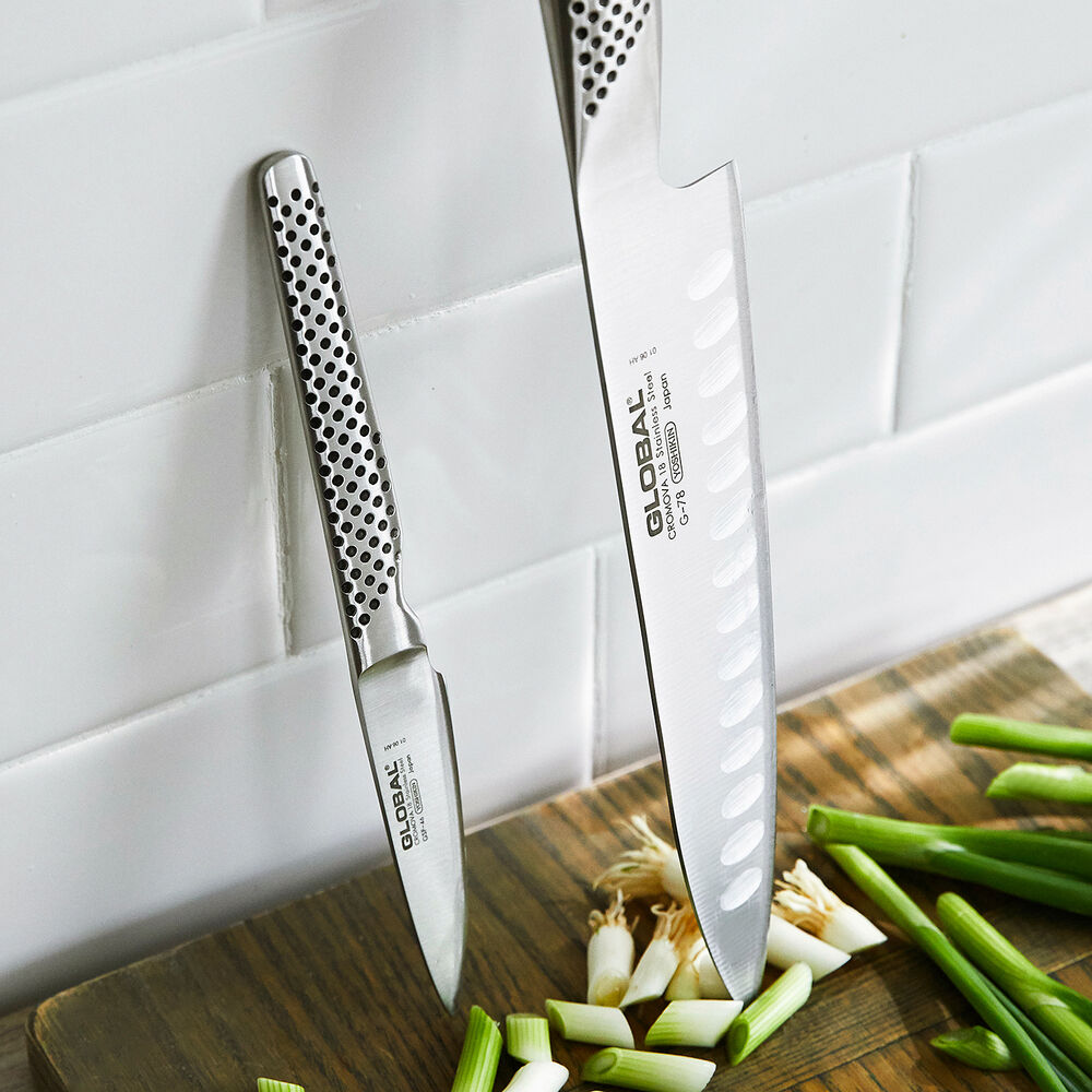 Global Hollow-Edge Chef's Knife Set