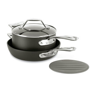 All-Clad Essentials 4-Piece Skillet & Saucepan Set