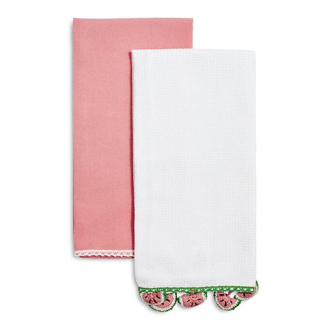 Watermelon Crochet Kitchen Towels, Set of 2