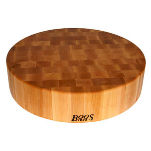 "John Boos & Co. Maple End-Grain Round Chopping Block, 18"" in diameter"