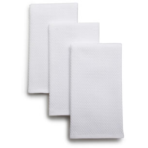 "Dual-Sided Kitchen Towels, 19"" x 16"", Set of 3"