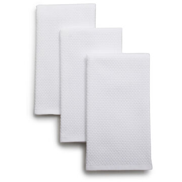 """Dual-Sided Kitchen Towels, 19"""" x 16"""", Set of 3"""