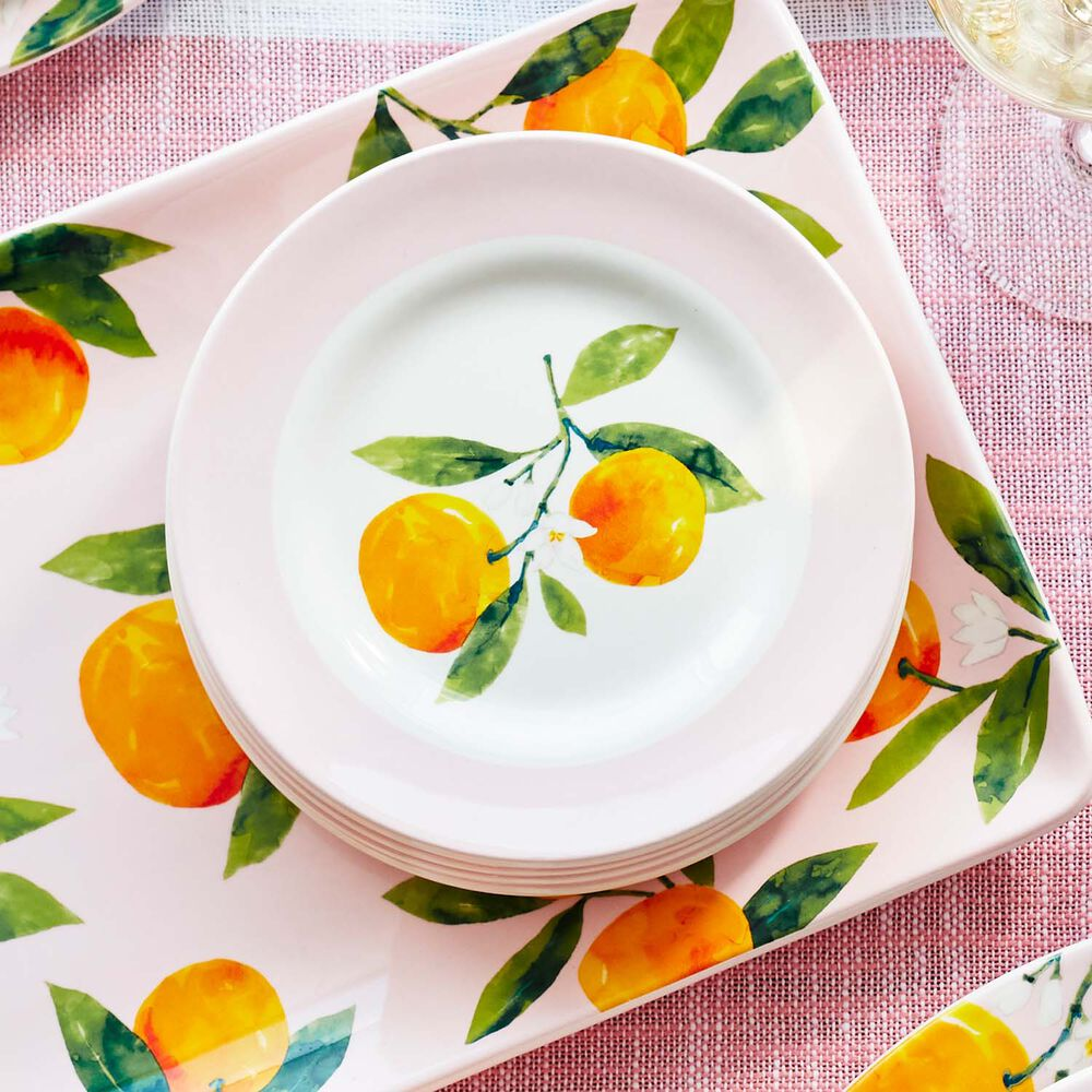 Citrus Appetizer Plates, Set of 4