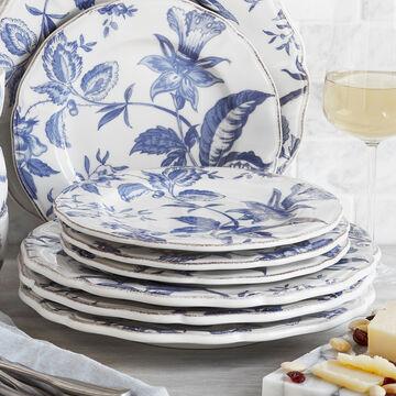 Italian Blue Floral Dinner Plate