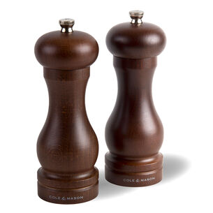 Cole & Mason Capstan Wood Salt and Pepper Grinder Gift Set