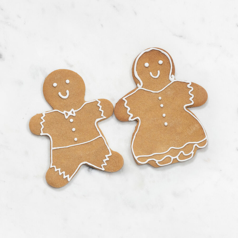 """Copper-Plated Gingerbread Boy Cookie Cutter with Handle, 4"""""""