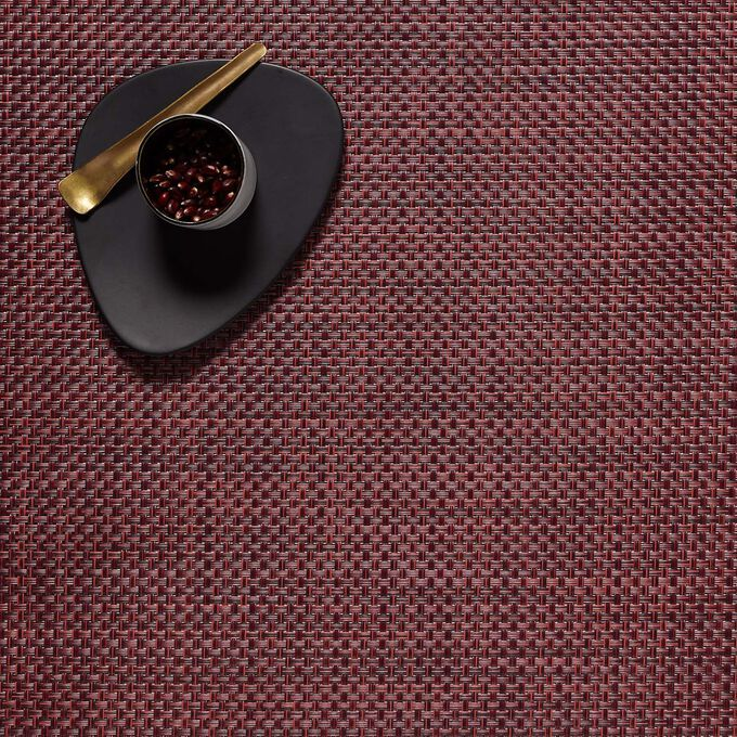 """Chilewich Basketweave Plum Placemat, 19"""" x 14"""""""