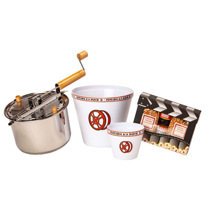 Stainless Steel Whirley Pop Movie Clapboard Gift Set