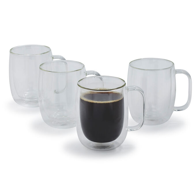 Zwilling J.A. Henckels Sorrento Plus Double-Wall Coffee Glasses, 12 oz., Set of 4