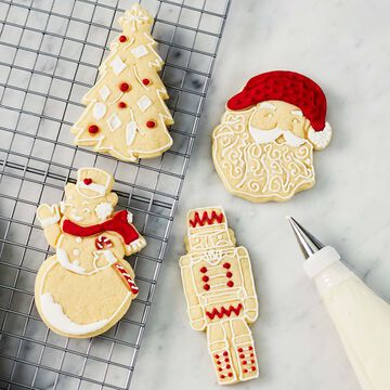 Holiday Impression Cookie Cutters, Set of 4