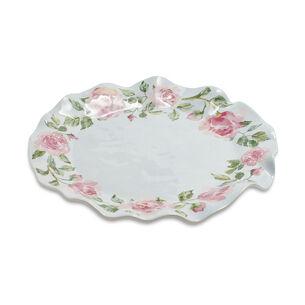 "Rose Nuage Melamine Round Platter, 17.5"""
