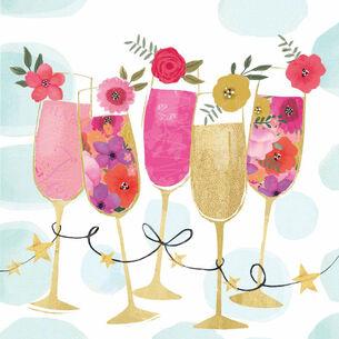 Caspari Happy Drinks Cocktail Napkins, Set of 20