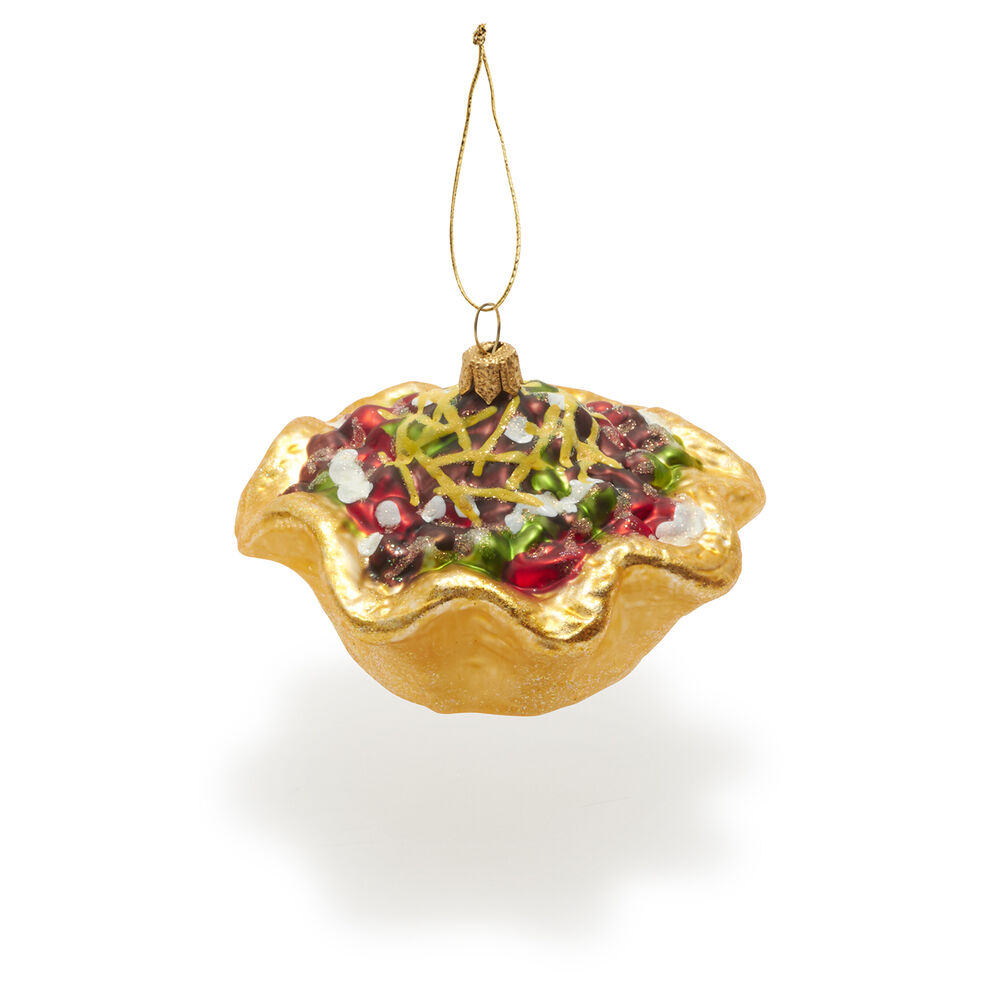 Taco Salad Glass Ornament