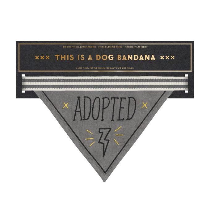 """Adopted"" Dog Bandana"