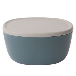 Leo Blue Bamboo Bowl With Lid, 8.75""