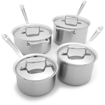 All-Clad d5 Brushed Stainless Steel Saucepans