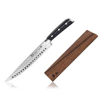 "Cangshan TS Series Swedish Sandvik Steel Forged Carving Knife & Wood Sheath Set, 9"""