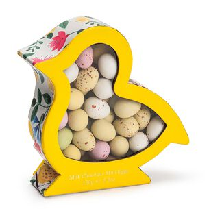 Charbonnel et Walker Chick-Shaped Yellow Box with Milk Chocolate Mini Eggs