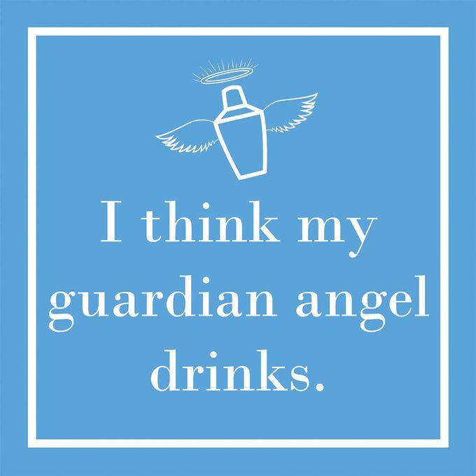 Guardian Angel Cocktail Napkins, Set of 20
