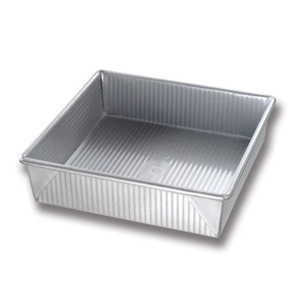 """USA Pan Square Cake Pan & Lid Set, 9"""" x 9"""""""
