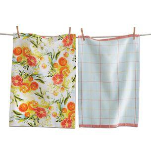 Citrus Splash Kitchen Towels, Set of 2