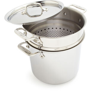 All-Clad d3 Stainless Steel Pasta Pentola, 7 qt.