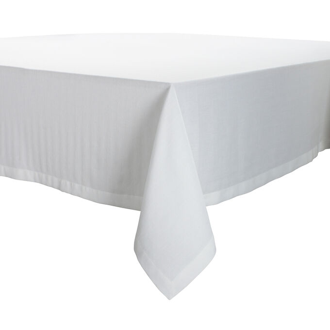 White Herringbone Tablecloth