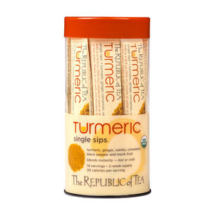 The Republic of Tea Organic Turmeric Single Sip, 14 packets
