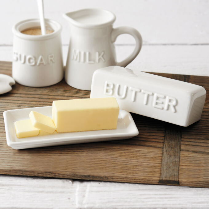 Embossed Butter Dish