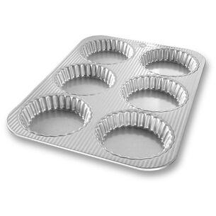 USA Pan Mini Fluted Tart Pan, 6 Count