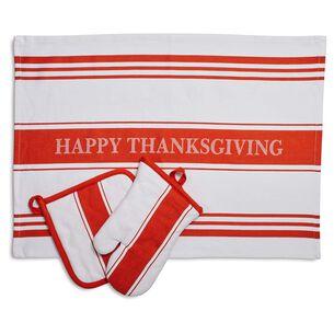 Thanksgiving Linen Gift Set, Set of 3