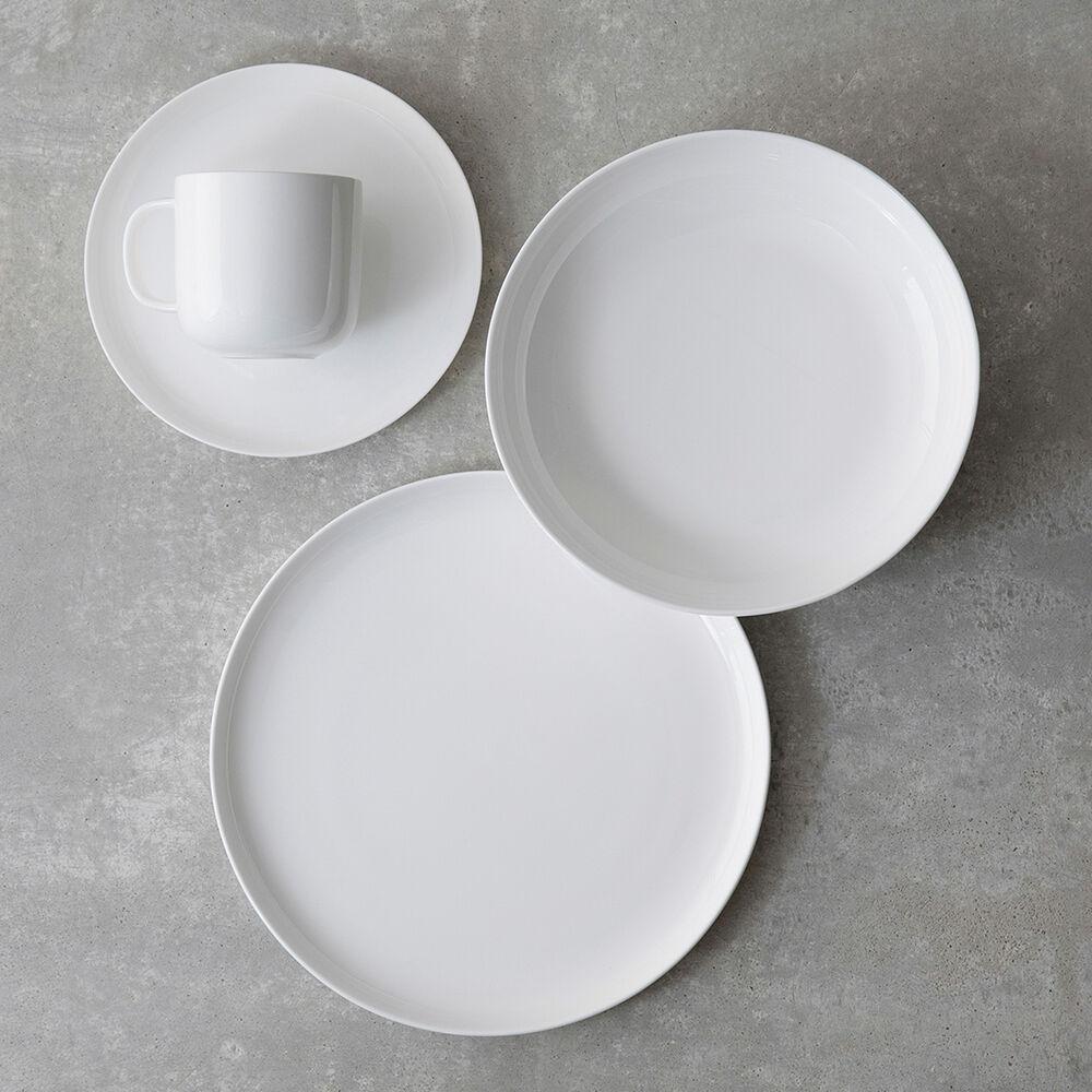 Gourmet Essentials Bone China Coupe Dinner Plates, Set of 4