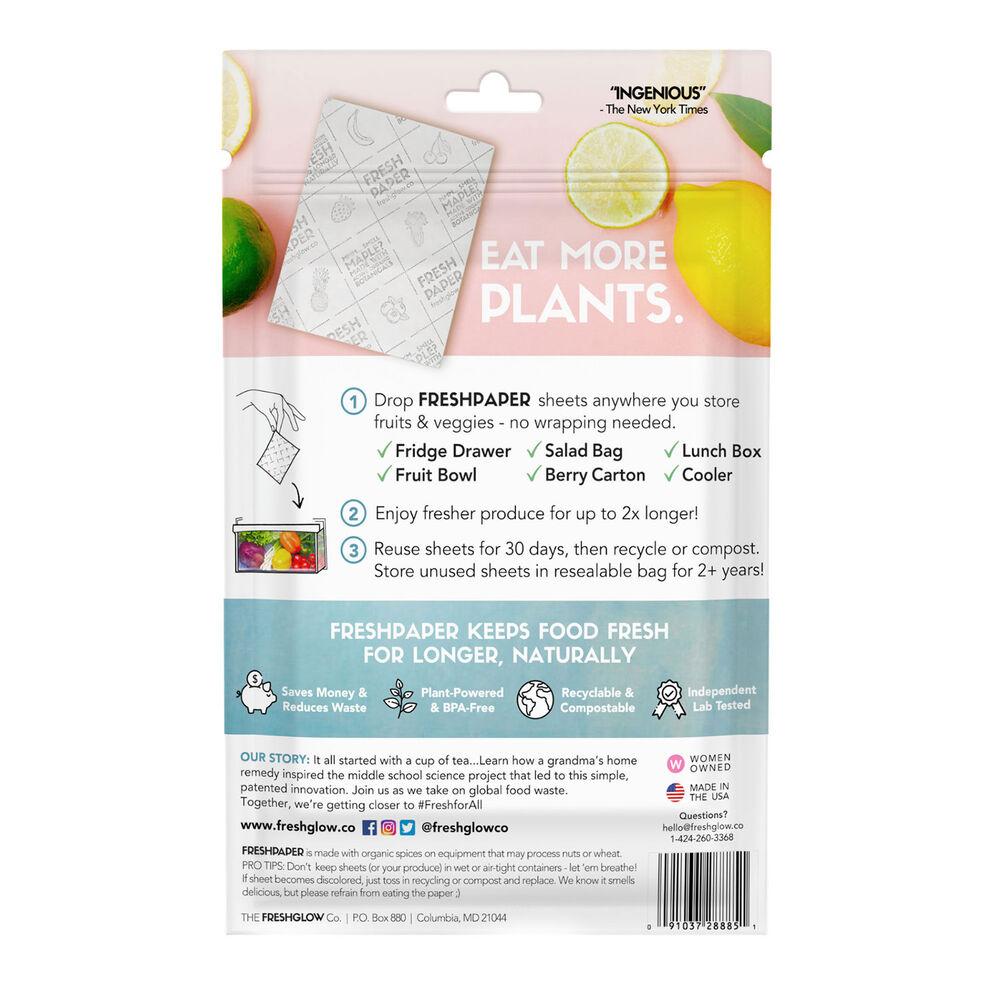 FreshPaper Produce Saver Sheets, Set of 8