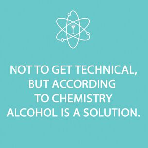 """""""Alcohol is a Solution"""" Paper Cocktail Napkins, Set of 20"""