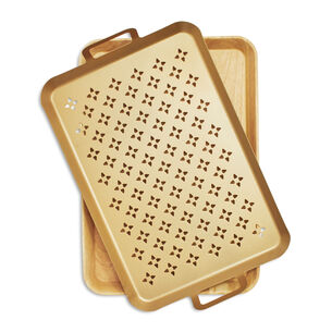 Nonstick Grill Grid with Wood Trivet