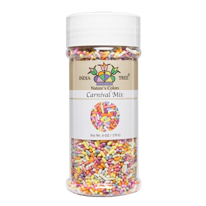 India Tree Carnival Mix Sprinkles, 5.75 oz.