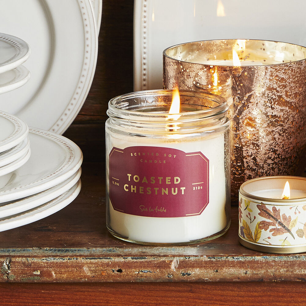 Toasted-Chestnut Soy Candle, 10.9 oz.