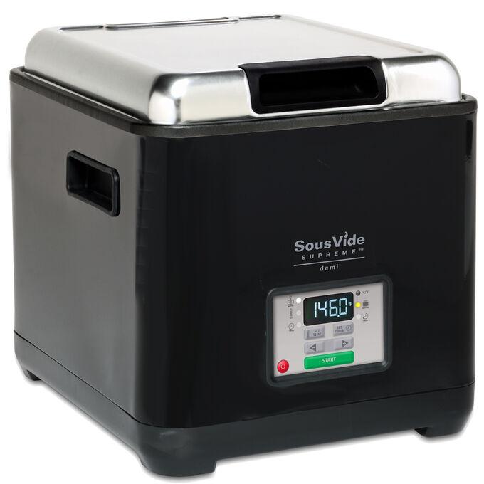 SousVide Supreme Demi Water Oven with Vacuum Sealer, Black