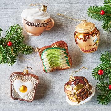 Pancakes Glass Ornament