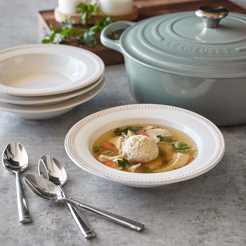 Pearl Stoneware Pasta Bowl