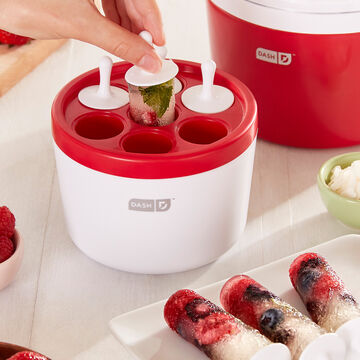 Dash Red Everyday Ice Cream Maker with Popsicle Maker