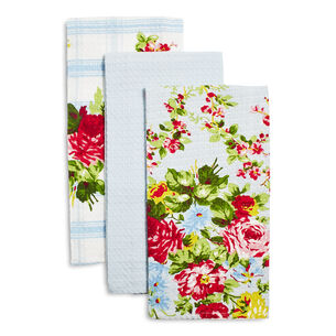 "Rose Garden Kitchen Towels by April Cornell, 19"" x 27"", Set of 3"