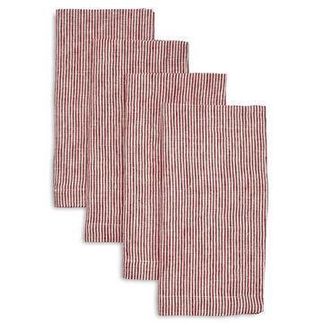 Linen Pinstripe Napkins, Sets of 4