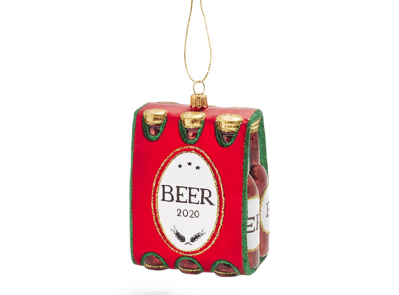 Beer Six Pack Glass Ornament | Sur La Table