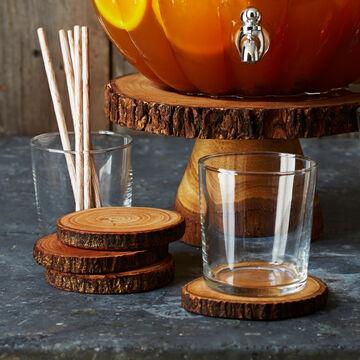 Wood Slice Coasters, Set of 4