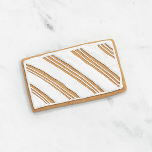 """Copper-Plated Rectangle Cookie Cutter with Handle, 4"""""""