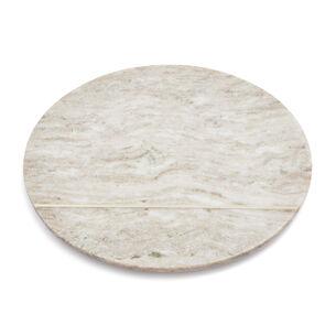 "Beige Marble Round Cheese Board, 12"""
