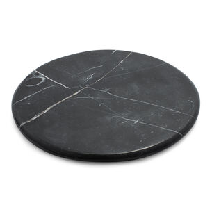 """Round Marquina Marble Board, 12"""""""